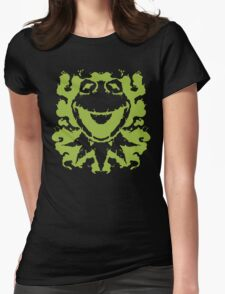 It's Not Easy Being Inked (green) Womens Fitted T-Shirt