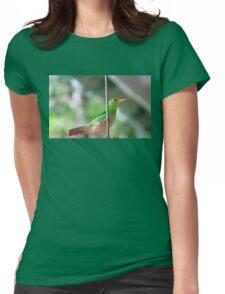 Female green honeycreeper Womens Fitted T-Shirt