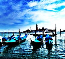 Blue Gondolas by Diana Bell