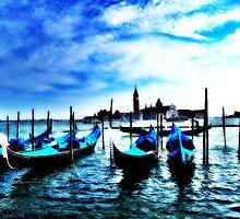 Blue Gondolas by Diana Bell