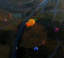 Hot Air Balloons from a Hot Air Balloon by myraj