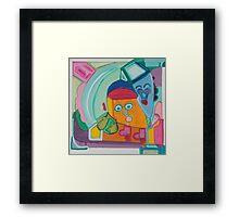 A House Beyond the Rainbow Framed Print