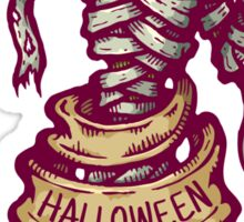 Mummy and old ribbon for Halloween Sticker
