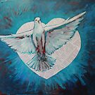 Heart Fully Enlarged - Holy Spirit No 1 by Kayleen West