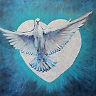 Heart Fully Enlarged - Holy Spirit No 3 by Kayleen West