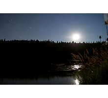 Lakeside Moonlight Photographic Print