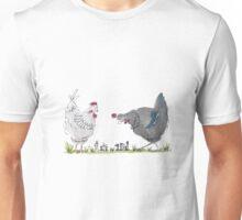 Chess playing chickens Unisex T-Shirt