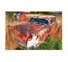 Old car - Cadillac Art Print