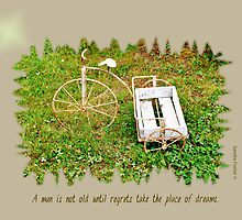 Rustic Wheels With Quote by Sandra Foster