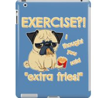 Pug with Extra Fries iPad Case/Skin