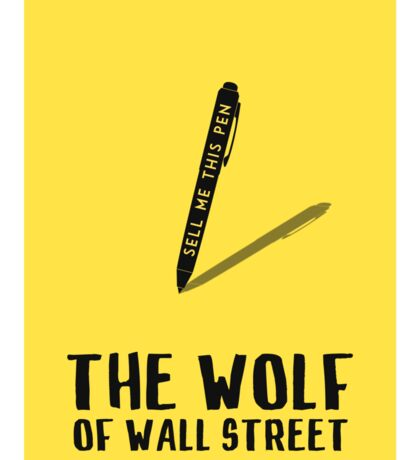 The Wolf Of Wall Street film poster Sticker
