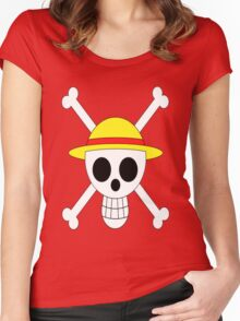 Luffy's Jolly Roger Women's Fitted Scoop T-Shirt