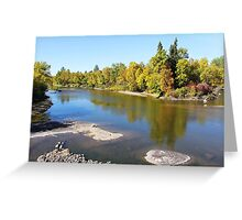 Autumn on the Whitemouth River Greeting Card