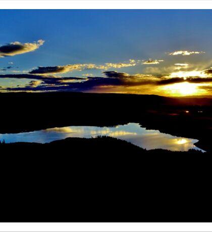 Serenity at Sunset Sticker