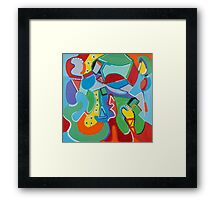 Green Beans Love Color and Form Framed Print