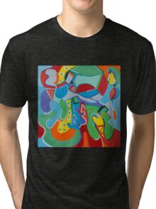 Green Beans Love Color and Form Tri-blend T-Shirt