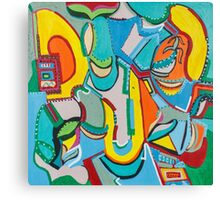Jukebox in the Corner Canvas Print