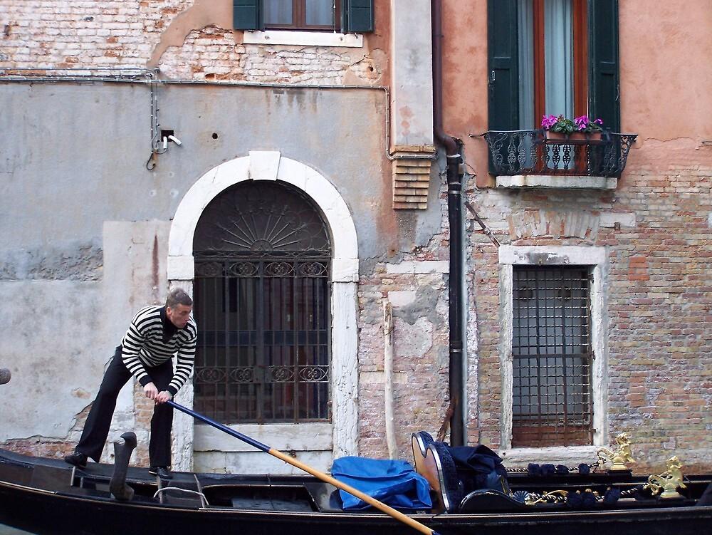 Gondalier in Venice by jlv-