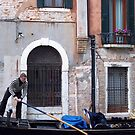 Gondalier in Venice by jlv-
