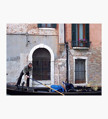 Gondalier in Venice Photographic Print