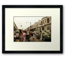 Catch the Bouquet Framed Print
