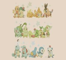 Pokemon Starters by takandre