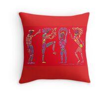 Dance Warriors War Party Throw Pillow