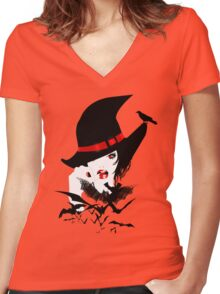 Pretty Wicked Women's Fitted V-Neck T-Shirt