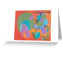 Friendly Green Fellow with a Purple Eye Greeting Card