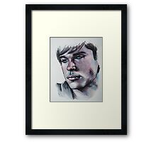 Portraits of Tom Welling, Clark Kent of Smallville-Featured in NoNudes Group and Virtual Museum Group, Just fun Framed Print