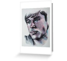 Portraits of Tom Welling, Clark Kent of Smallville-Featured in NoNudes Group and Virtual Museum Group, Just fun Greeting Card