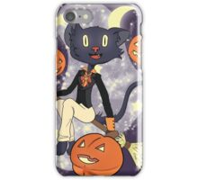 Halloween Cat On A Broomstick iPhone Case/Skin