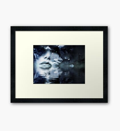 Woman in the Clouds Framed Print
