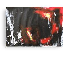 big black, white, red Canvas Print