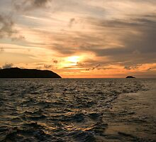 Sunset in my wake by Philip Kearney