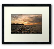 Sunset in my wake Framed Print