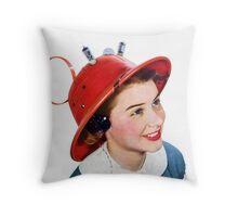 Radio Hat Throw Pillow
