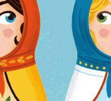 Russian doll brides Sticker