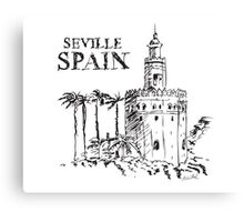 The Torre de Oro naval tower in Seville, Spain. Canvas Print