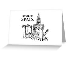 The Torre de Oro naval tower in Seville, Spain. Greeting Card