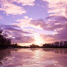 River Murray Sunset  by clearviewstock