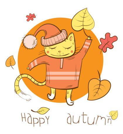 Happy autumn. Sticker