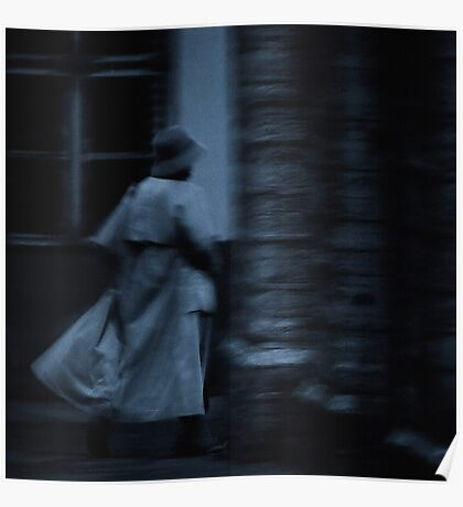 Hurrying woman Poster