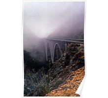 Bridge in Fog Poster