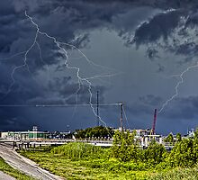 Storm near New Orleans by Anthony M. Davis