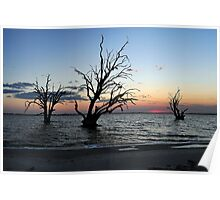 Sunset at Lake Bonny Poster