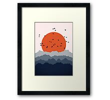 Abstract Mountain Birds Framed Print