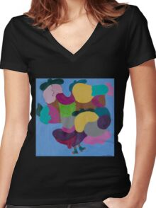 Friendly Muses! Women's Fitted V-Neck T-Shirt
