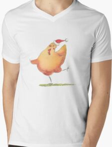 Happy Christmas Chicken Mens V-Neck T-Shirt