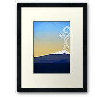 Volcano Abstract Design Framed Print
